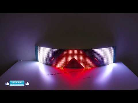how to build an Flexible LED Curve Screen Wifi controlled with easy addressable LEDs WS2812b WS2811
