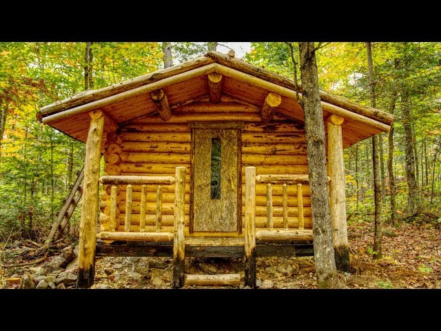 A Front Porch on the Bathhouse | Log Cabin Sauna Build