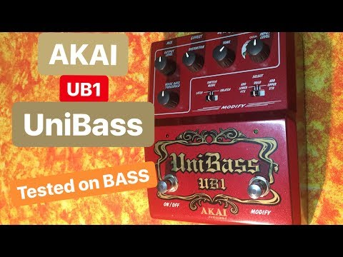 AKAI UB1 UniBass Tested on bass