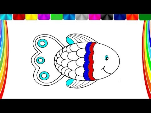 Fishs Coloring Book Colorful Fish Howto Draw Fish - YouTube