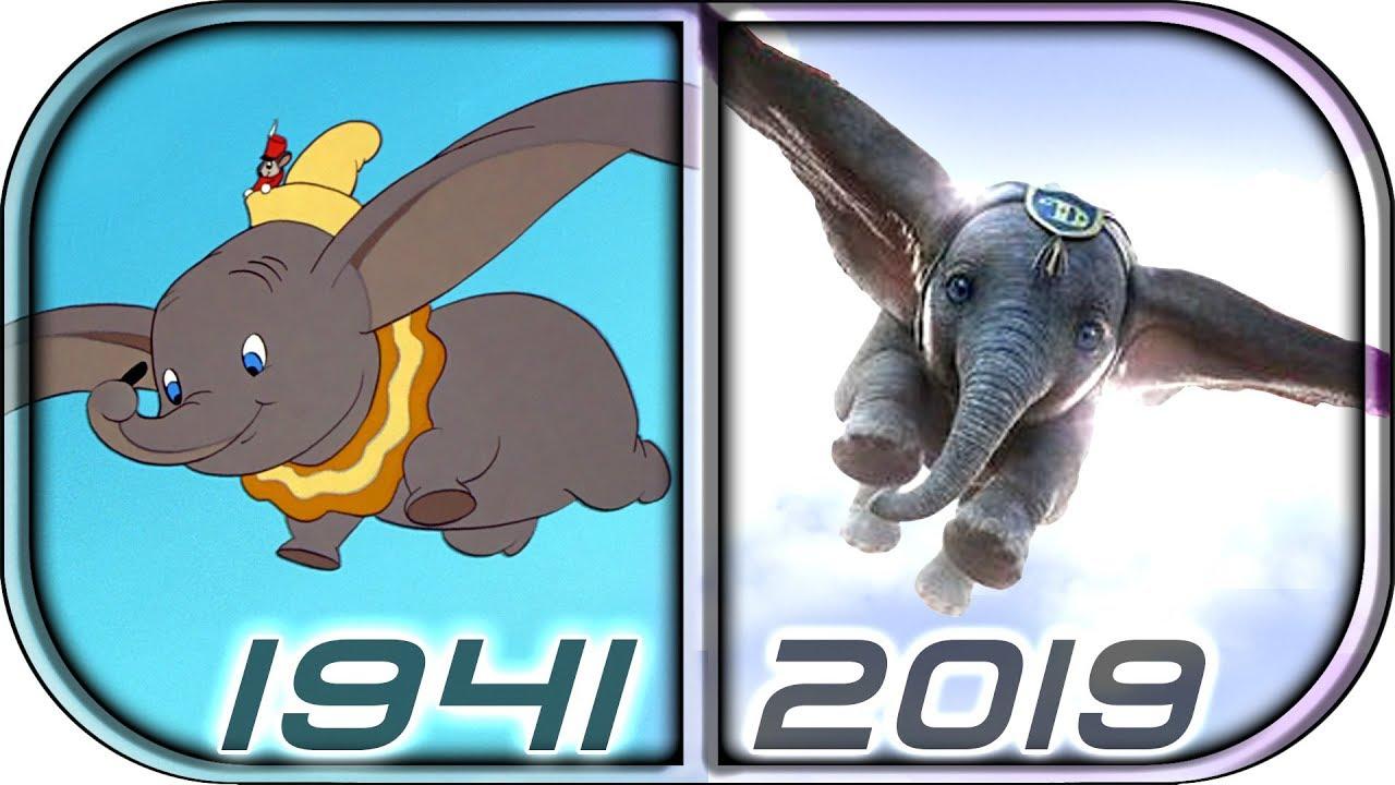 Download EVOLUTION of DUMBO in Movies Cartoons TV (1941-2019) Dumbo 2019 Full movie trailer movie clip scene