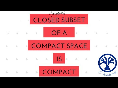 Closed Subset Of Compact Set Is Compact Youtube
