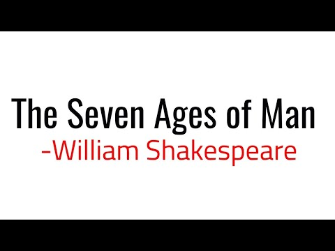 The Seven Ages of Man: Poem by William Shakespeare in