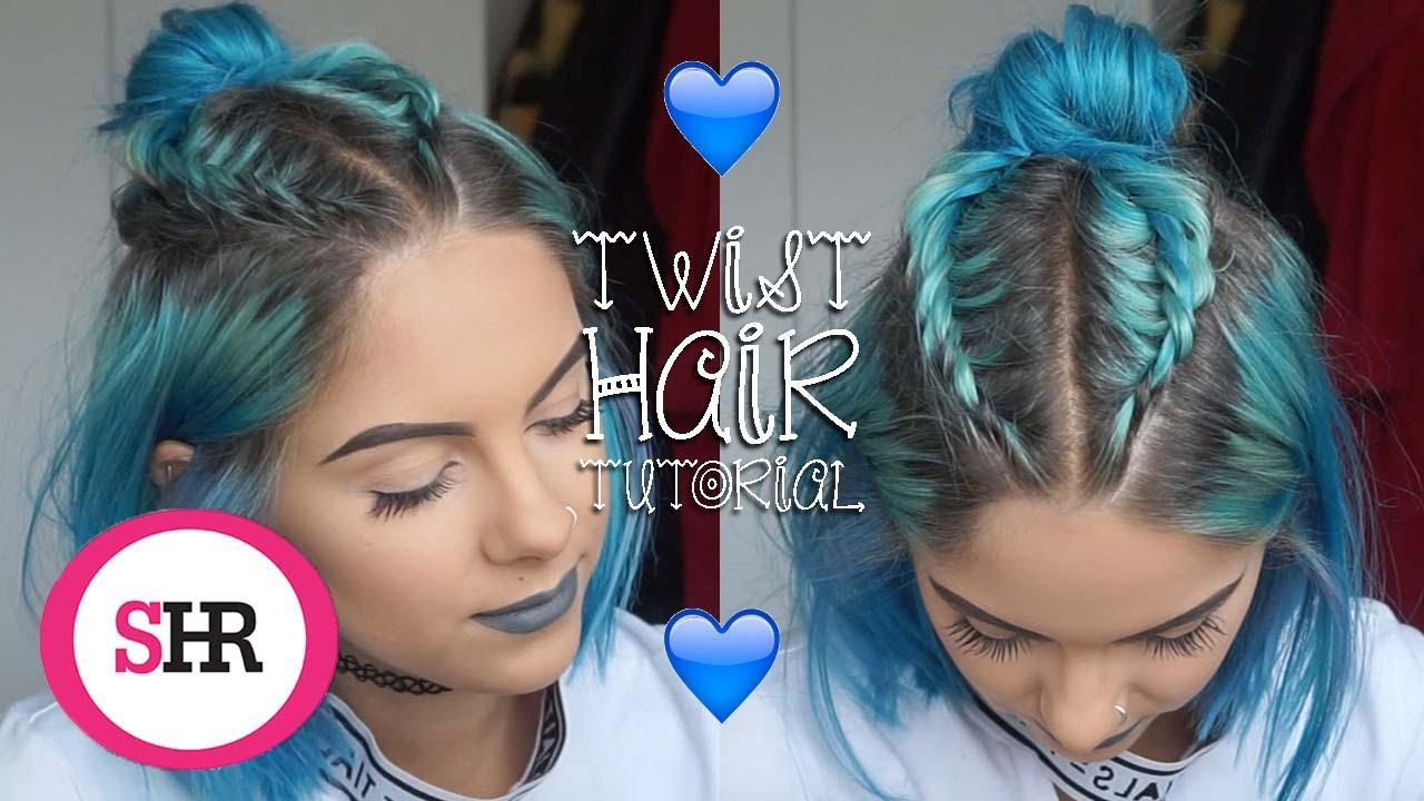 Half Up Half Down Bun Twist Hair Tutorial Sophie Hannah Richardson