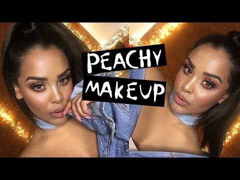 PEACHY Soft Glam CHATTY Makeup Tutorial NikkisSecretx