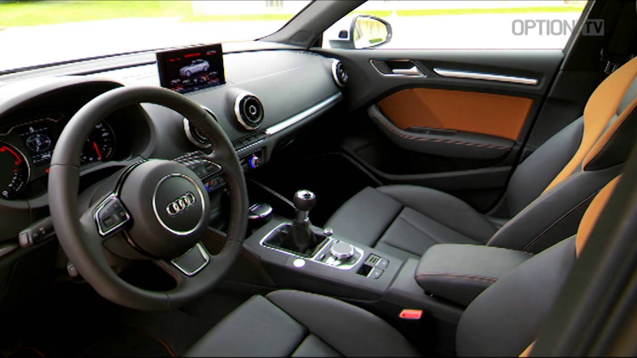 New audi a3 sedan details hd option auto news youtube for Audi a3 interieur