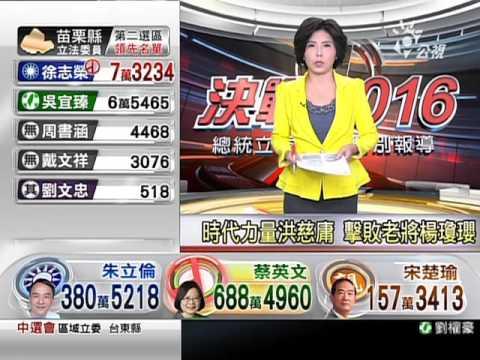 總統大選開票特別報導 2016 0116 公視晚間新聞 - YouTube