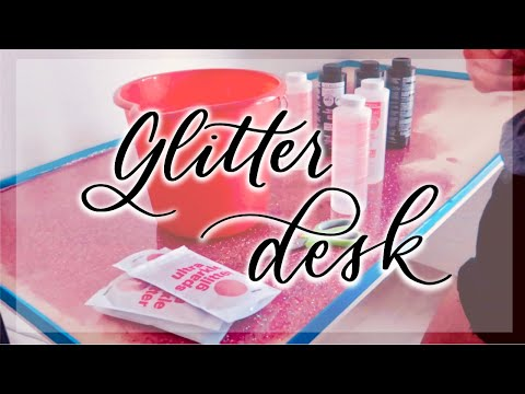 DIY Rose Gold Glitter Table Top *Gone Wrong*