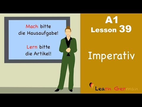 Learn German | Imperativ | Imperative | German for beginners | A1 - Lesson 39