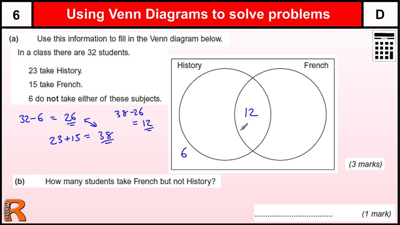 Venn diagram gcse maths revision exam paper practice help youtube pooptronica Images