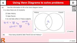 Venn Diagram GCSE Maths revision Exam paper practice & help