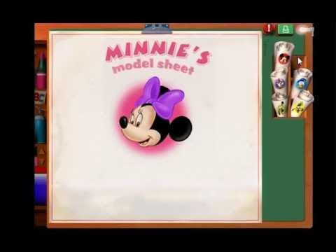 Микии Маус. Подружка Микки Мауса. Учимся рисовать.