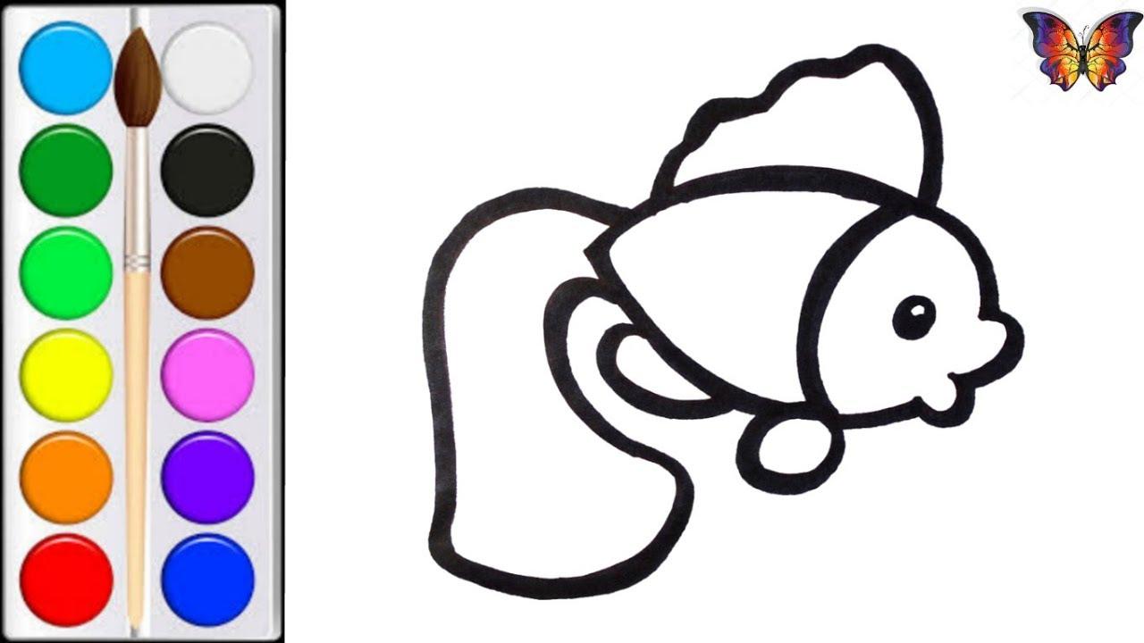 Как нарисовать РЫБКУ / мультик раскраска РЫБКА для детей ...
