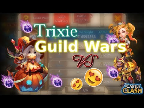 Castle Clash Trixie Treat Guild Wars_Vs Gunslinger And Anubis_Is She Any Good??