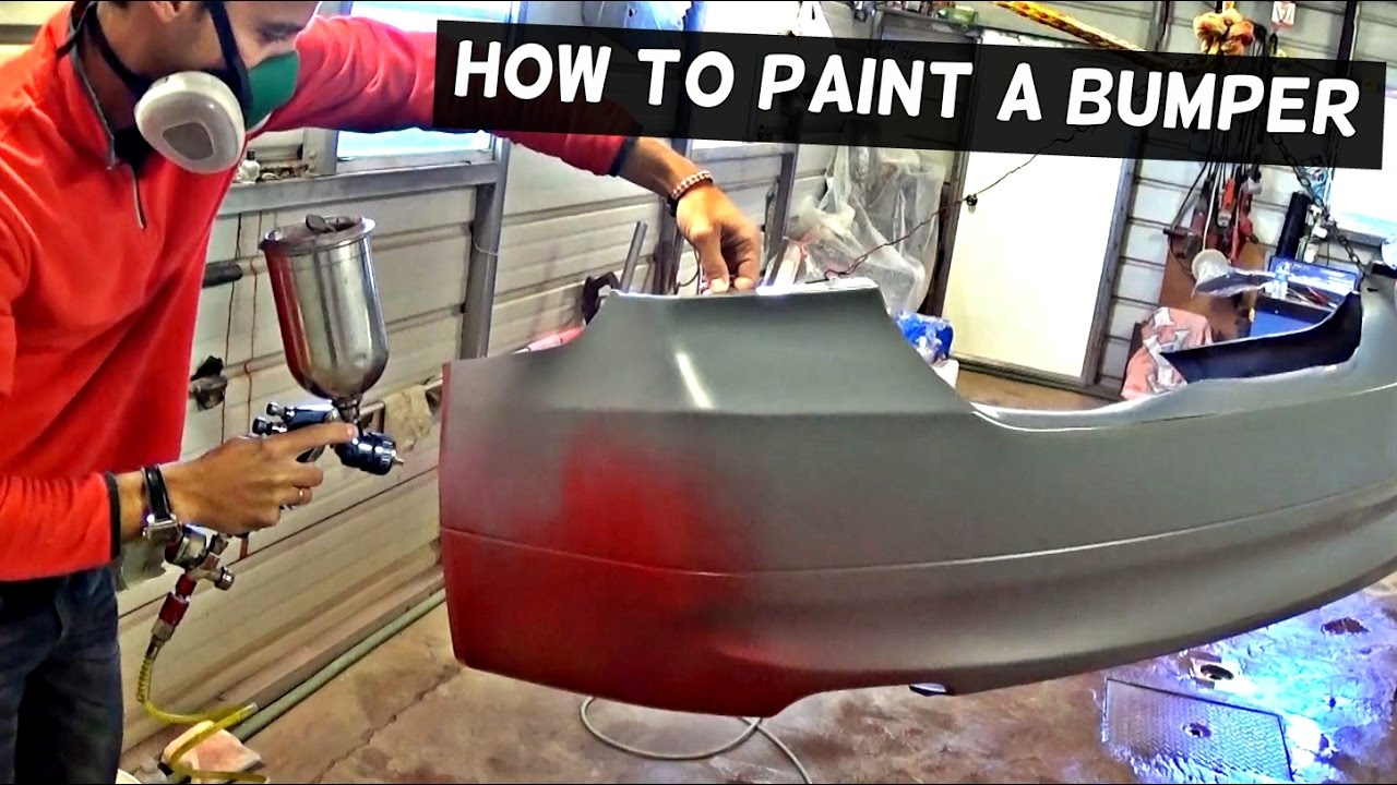 HOW TO PAINT A BUMPER COVER LIKE A PRO  YouTube