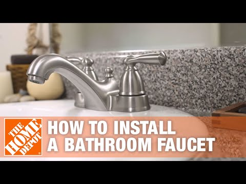 How to Install or Replace a Bathroom Sink Faucet