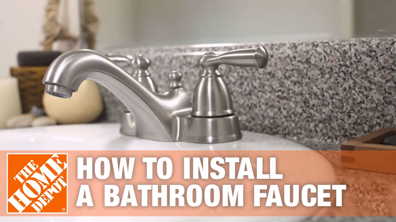 installing a kitchen faucet how to install or replace a bathroom sink faucet the home depot youtube 2676