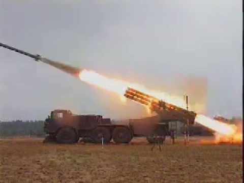 220-мм реактивная система залпового огня БМ 9П140 «Ураган»