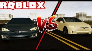 TESLA MODEL S vs TESLA MODEL X in ROBLOX! w/DylanHyper (Roblox Vehicle Simulator) #25