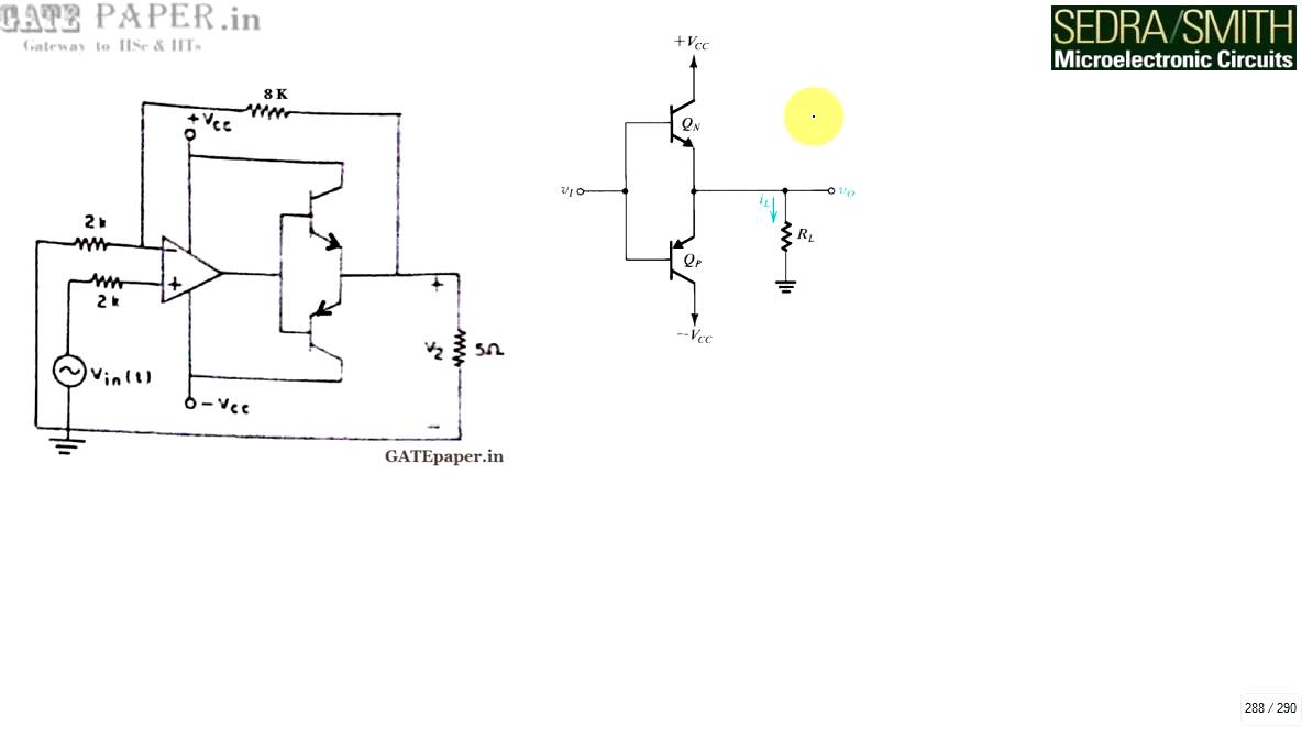 small resolution of gate 1990 ece class b push pull power amplifier