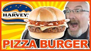 Harvey's Pizza Burger Review   KBDProductionsTV