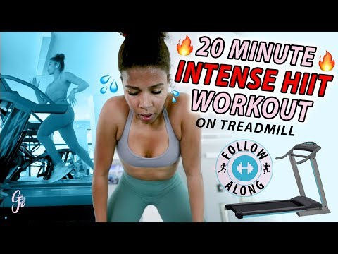 Easiest way to Burn 1000 calories! | 20 MINUTE INTENSE HIIT WORKOUT *TREADMILL follow along