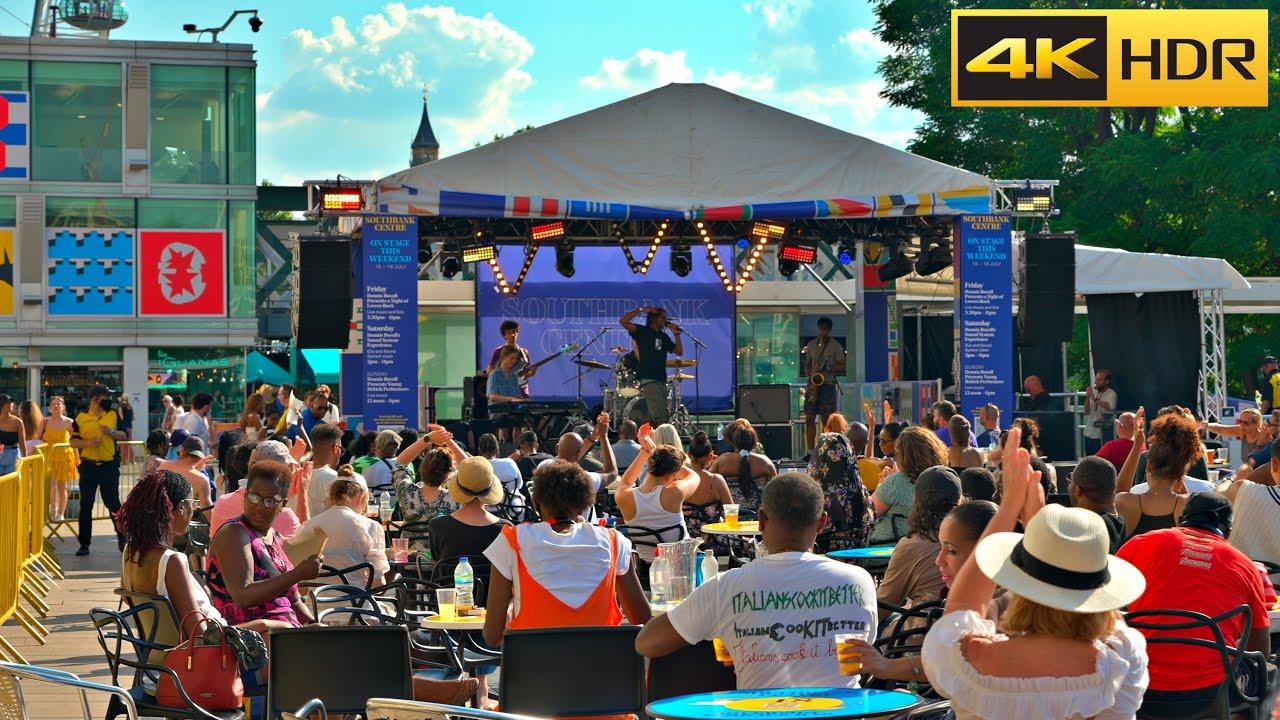 Part 2 - Heatwave Summer 🌡🌞 London Walk   Southbank to Trafalgar Square [4K HDR]