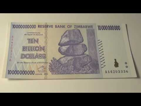 2008 Ten Billion Dollars From Zimbabwe