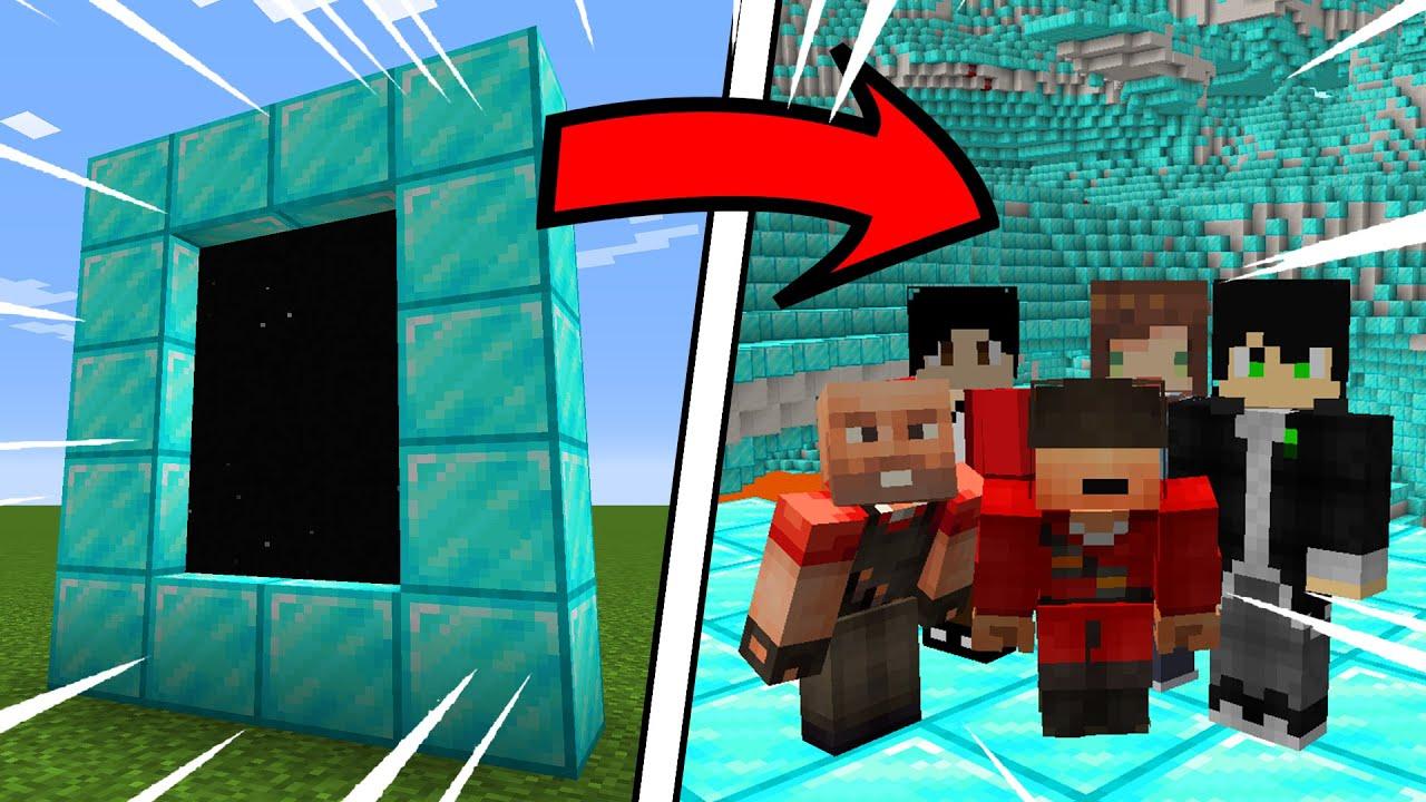 จะเกิดอะไรขึ้น!! ถ้าเราสามารถสร้างประตูมิติจากบล็อกอะไรก็ได้ | Minecraft Anydimension