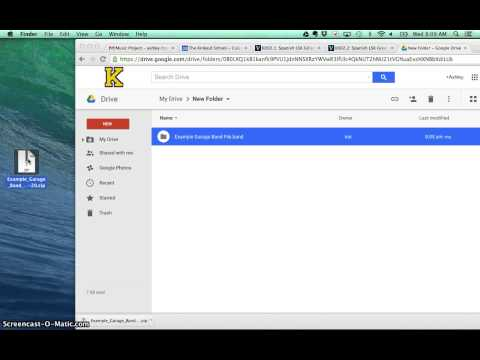 How to Open Garage Band Files in Google Drive