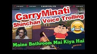 CarryMinati in Shinchan Voice Trolling PUBG Teammates