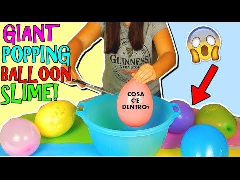Download Youtube: SLIME SCOPPIANDO PALLONCINI GIGANTI! (GIANT POPPING BALLOON SLIME) Iolanda Sweets