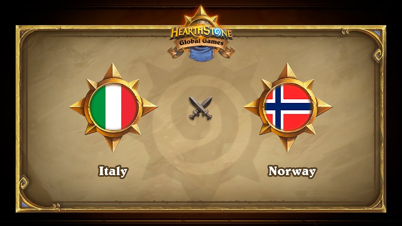 Italy vs Norway, Hearthstone Global Games Group Stage