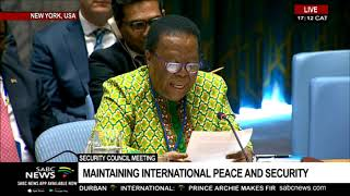 Minister Pandor addresses the UN Security Council
