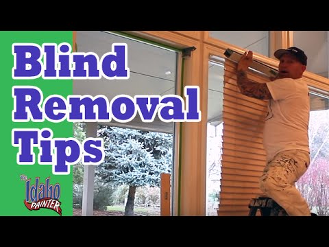 How To Remove Levolor Style Blinds. Blind Removal Hacks. - YouTube