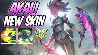 CRIME CITY NIGHTMARE AKALI FULL AP - New Amazing Skin Gameplay   Build & Runes   League of Legends