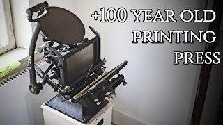 (Antique) Tools - Eickhoff Table Top Printing Press