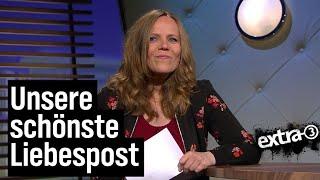 Sarah Bosetti liest Liebesbriefe an extra 3