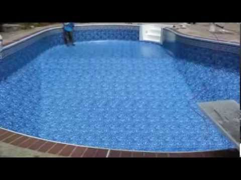 Above Ground And Inground Pool Liner Samples Youtube