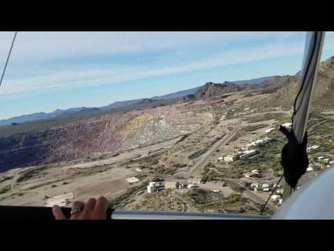 Flight Near Abandoned Copper Mine In AZ