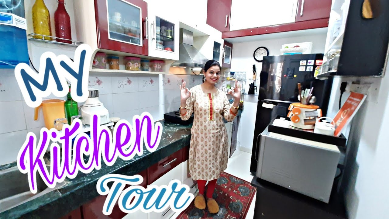 KITCHEN TOUR| INDIAN KITCHEN-UPDATED TOUR| My Small ...