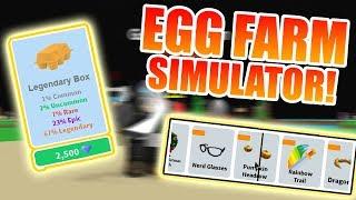 OPENING LEGENDARY CARTON! (+GETTING STARTED!)   ROBLOX: Egg Farm Simulator