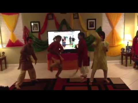 Boys dancing on janmashtmi