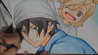 Drawing Naru and Seishuu - Barakamon