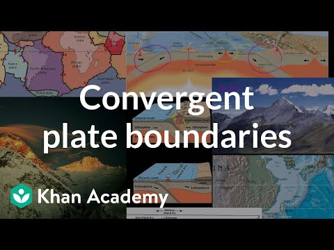 Plate Tectonics-- Geological features of Convergent Plate Bo
