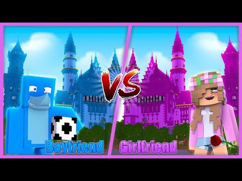 BOYFRIEND VS GIRLFRIEND | CASTLE VS CASTLE | MOST SECURE | Minecraft Little Kelly Plays