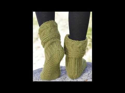 Чудесные носочки-сапожки с полным описанием