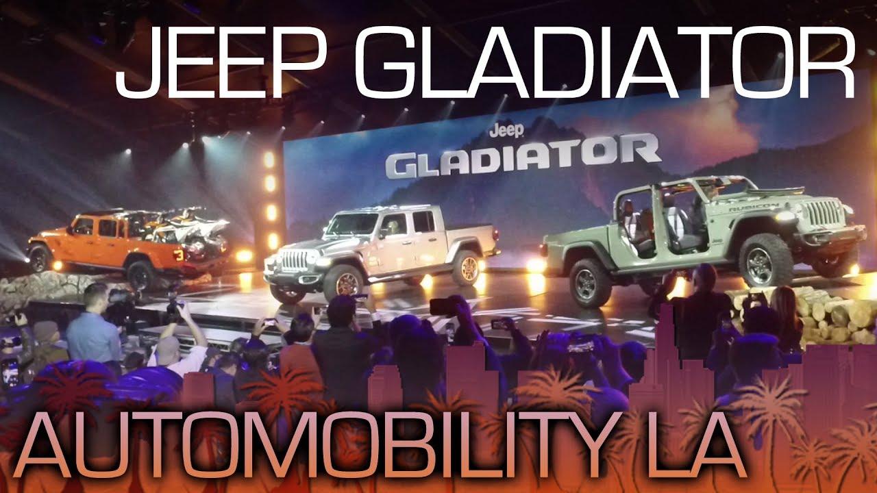 Jeep Gladiator Pickup Truck Revealed La Auto Show 2018 Youtube