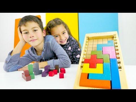 Eren ve Ceylın kardeşlerinden zeka oyunu; Katamino