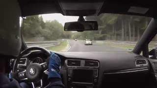 Heavy crash on the Nordschleife for a Swift - Onboard Golf 7 GTI - 09.10.2016